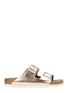 Birkenstock-Arizona sfb rose-pink leather flats