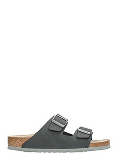 Birkenstock-Arizona sfb black leather flats