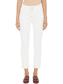 Chloé-white denim jeans