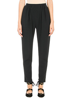 Chloé-black silk pants