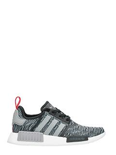 Adidas-Sneakers Nmd R1 in tessuto tecnico grigio/nero