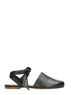 Alexandre Birman-Couros black leather flats