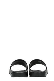 ... Givenchy SANDALI SLIDE LOGO IN GOMMA NERA ...
