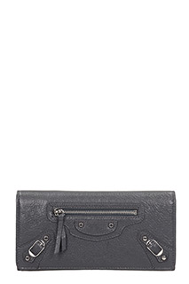 Balenciaga-Class money  grey leather wallet