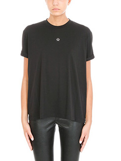 Stella McCartney-T-Shirt Stella in cotone nero