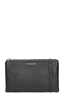 Michael Kors-Borsa Adele Double Zip Crossbody in pelle nera