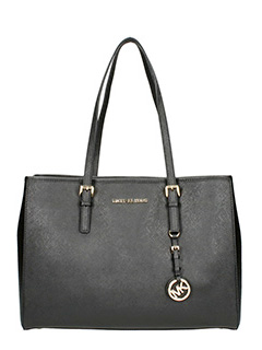 Michael Kors-black leather bag
