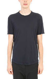 James Perse-T-shirt in cotone blu