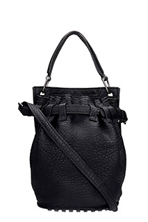 Alexander Wang-Borsa Diego Inside Out in pelle nera