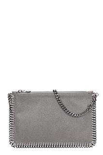 Stella McCartney-Purse grey polyamide clutch