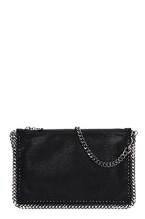 Stella McCartney-Falabella Purse black shaggy clutch
