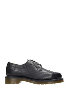 Dr. Martens-black leather lace up shoes