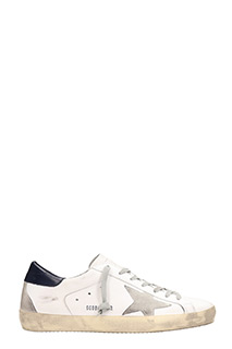 Golden Goose Deluxe Brand-Sneakers basse S. Star in pelle bianca blue