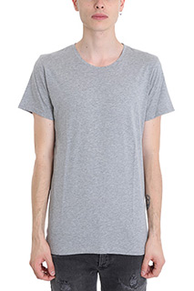 Balmain-grey cotton t-shirt