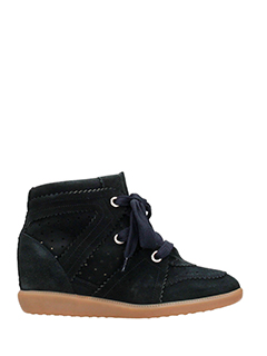 Isabel Marant-Sneakers Basket Bobby in suede nero