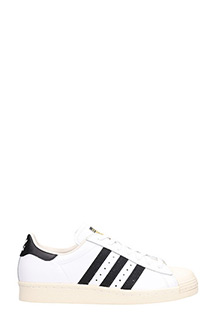 Adidas-Sneakers Superstar 80s in pelle bianca e nera