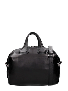 Givenchy-Borsa Nightingale Media in pelle nera