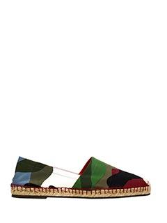Valentino-Espadrillas in canvas camouflage verde bianco rosso