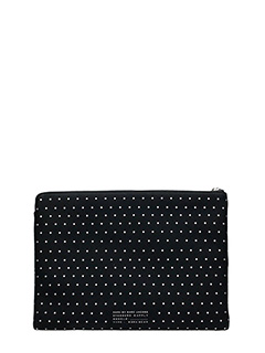 Marc by Marc Jacobs-Pochette 13 Zip Cutout Case in tessuto nero