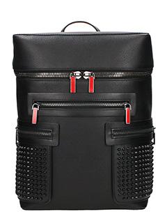 Christian Louboutin-apoloubi backpa black leather backpack