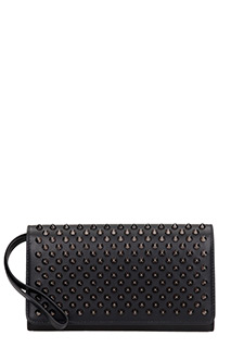 Christian Louboutin-Macaron wallet black leather wallet