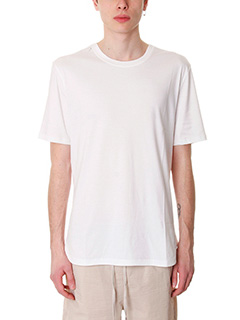 Helmut Lang-T-Shirt Tee Brushed in cotone bianco