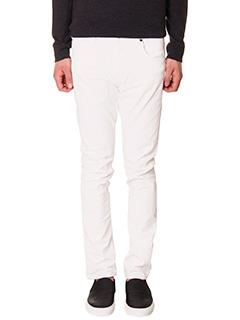 Helmut Lang-skinny pant cor white cotton jeans