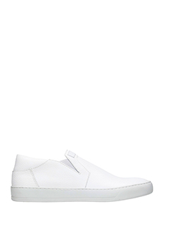 Helmut Lang-Sneakers Slip On  in pelle bianca