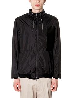 Low Brand-guild black nylon outerwear