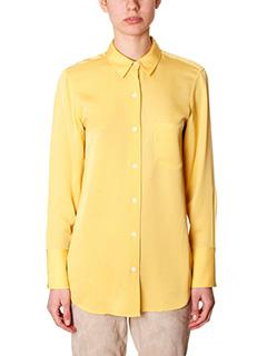 Theory-nijee yellow silk shirt