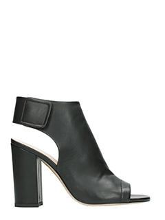 Fabio Rusconi-tron spunt aper black leather ankle boots