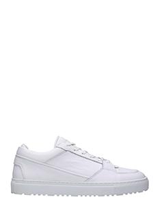 Etq .-Sneakers Low  in pelle bianca
