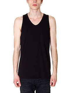 T by Alexander Wang-Tanktop Classic in cotone nero