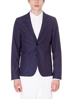 Jil Sander-giada blue cotton outerwear