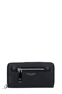 Marc Jacobs-continen wallet black leather wallet