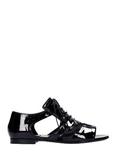 Givenchy-Sandali aperti Show Com in vernice nera