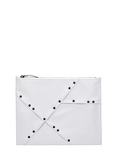 Maison Margiela-white leather clutch