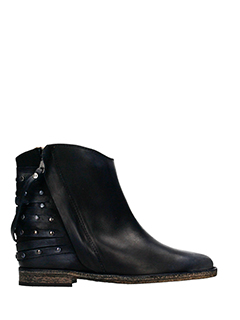 Via Roma 15-black leather ankle boots