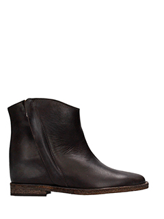 Via Roma 15-brown leather ankle boots