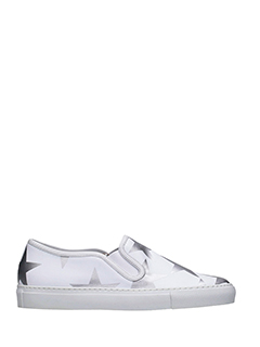 Givenchy-Sneakers Low Skate in pelle bianca argento