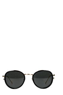 Linda Farrow-Occhiali da sole Luxe in acetato ed acciaio nero ed oro