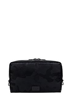 Valentino-Beauty camouflage black nylon clutch