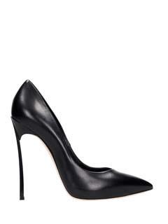 Casadei-black leather pumps