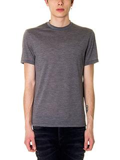 Neil Barrett-T-Shirt in cotone grigio