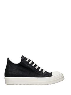 Rick Owens DRKSHDW-Sneakers Low Sneakers in tessuto nero