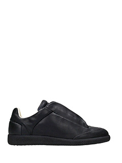Maison Margiela-future low black leather sneakers