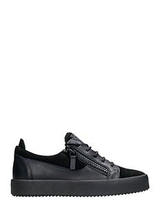 Giuseppe Zanotti-Sneakers basse in pelle e camoscio nero