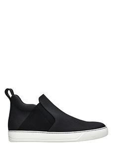 Lanvin-Sneakers Chelsea Slip On in pelle nera