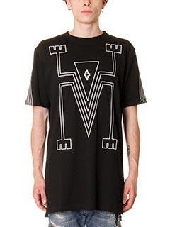 Marcelo Burlon-T-Shirt Tupungato in cotone nero