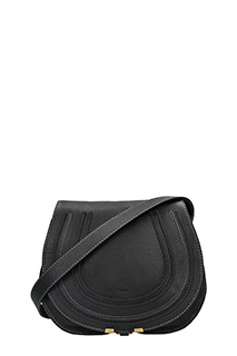 Chlo�-Borsa Marcie Saddle in pelle nera